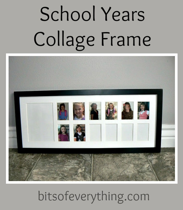 School Years Collage Frame | Bits of Everything