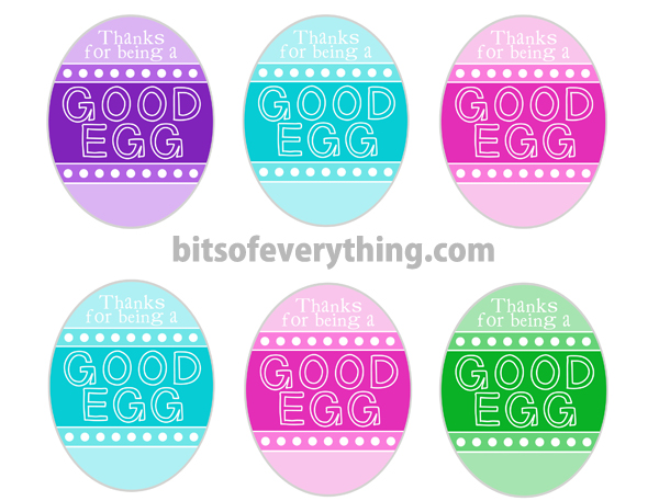 Quick and easy easter gifts bits of everything good egg gift tag2 negle Choice Image