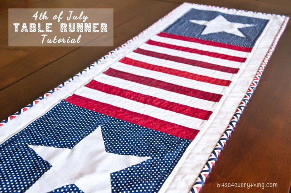 Patriotic Table Runner Tutorial Bits Of Everything