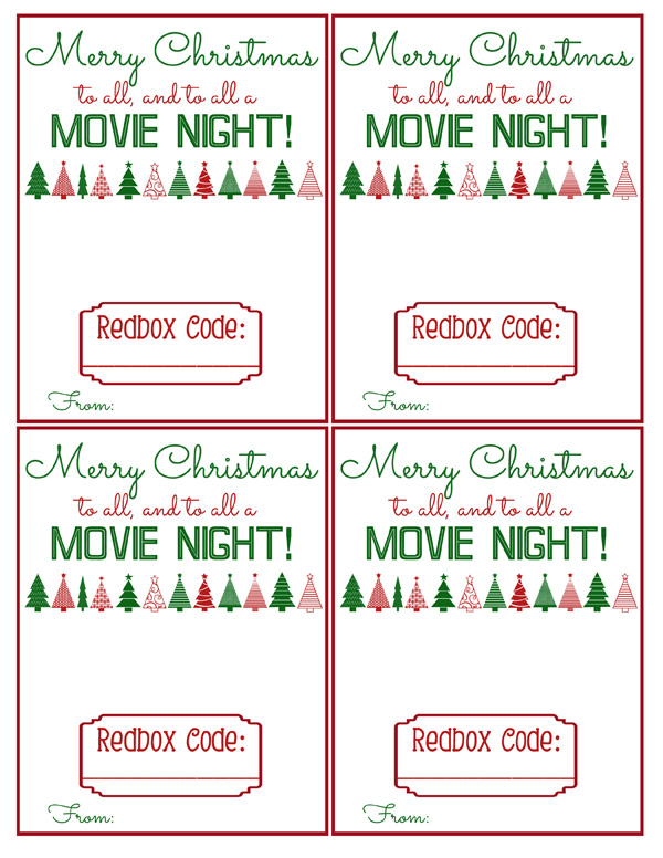 picture relating to Printable Redbox Gift Cards called Redbox Reward Printable Bits of All the things