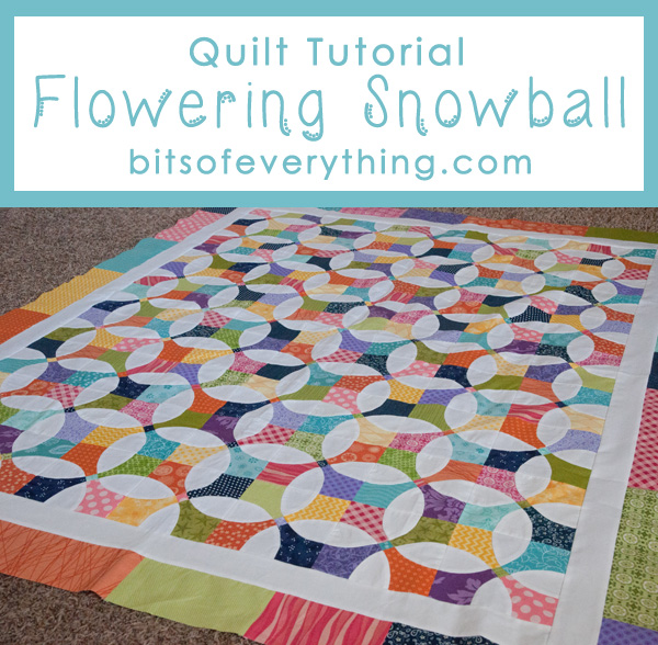 Flowering snowball quilt tutorial bits of everything free quilt pattern maxwellsz