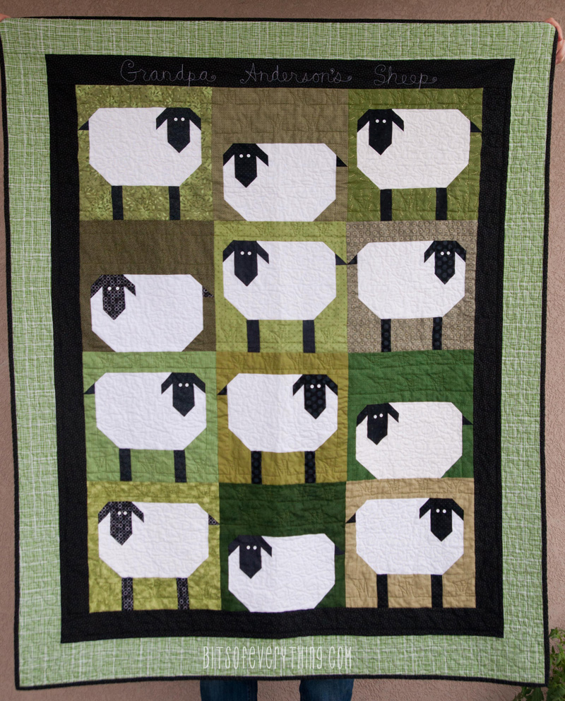 Grandpas Sheep Quilt Bits Of Everything